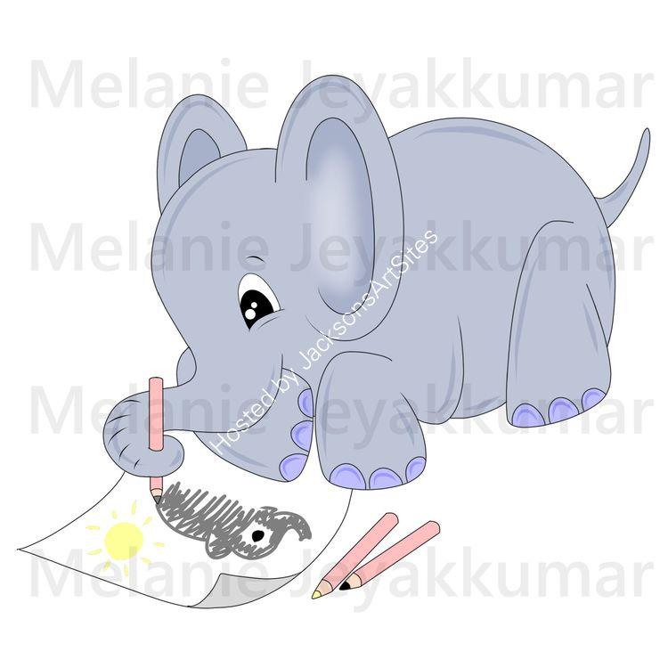 Elephant scribble