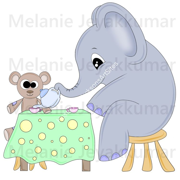 Elephant teaparty