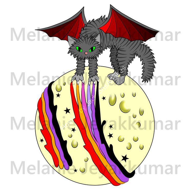 Evil Magic Moon Cat