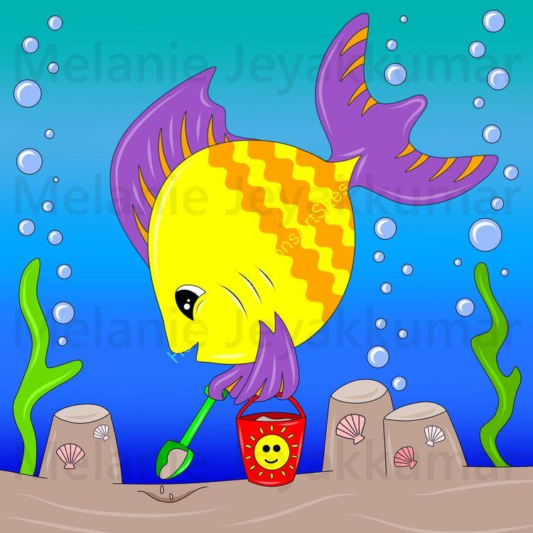 Fish sandcastle