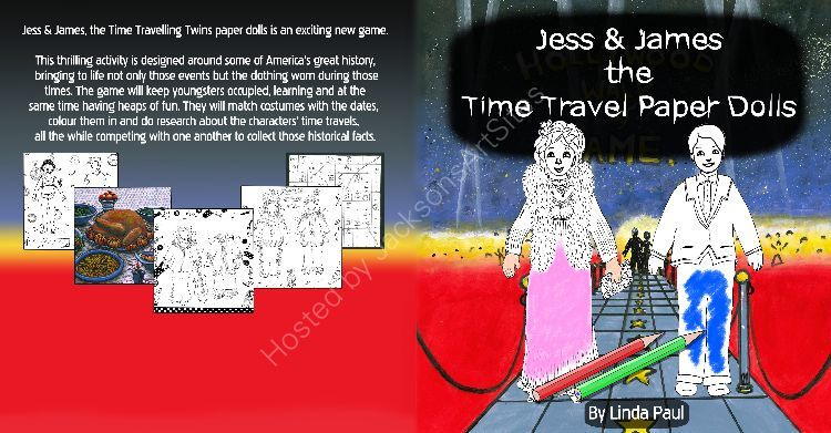 Jess and James Time Travelling Paper Dolls