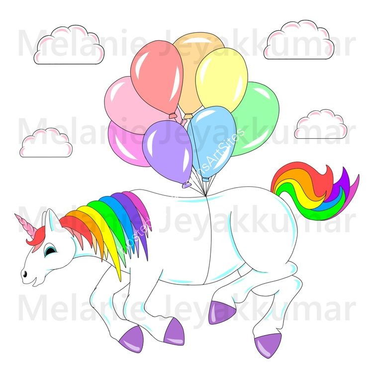 Unicorn Balloon colour