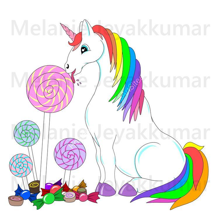 Unicorn Lolly colour