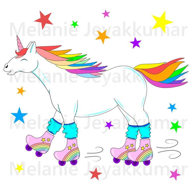 Unicorn Skates colour