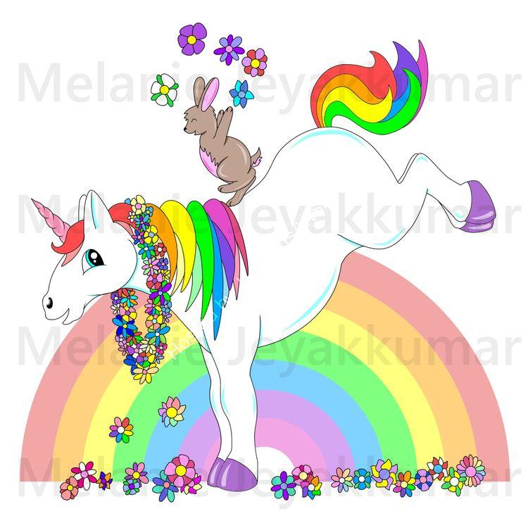 Unicorn bunny colour