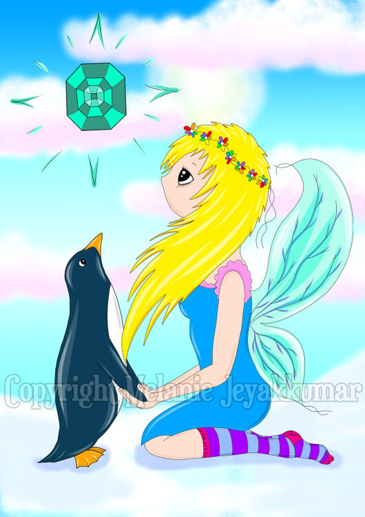 fairy and penguin