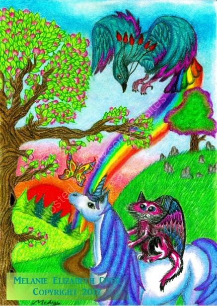 Kosmic and Spirit find the Rainbow Bird