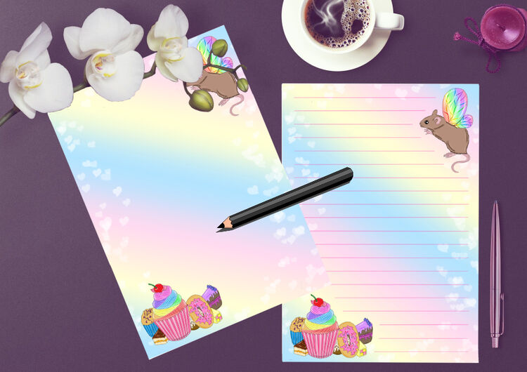 Fairy Mouse writing paper