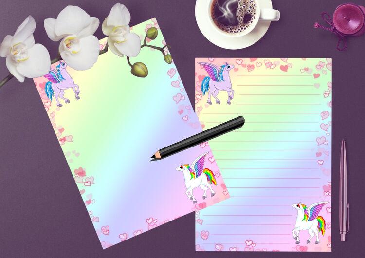 Pegasus Writing paper