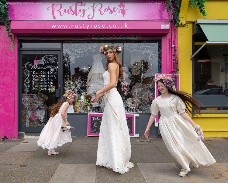 Public Relations Photography for Rusty Rose Bridal Accessories, Crosby, Merseyside