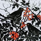 Blackbirds and Rosehips