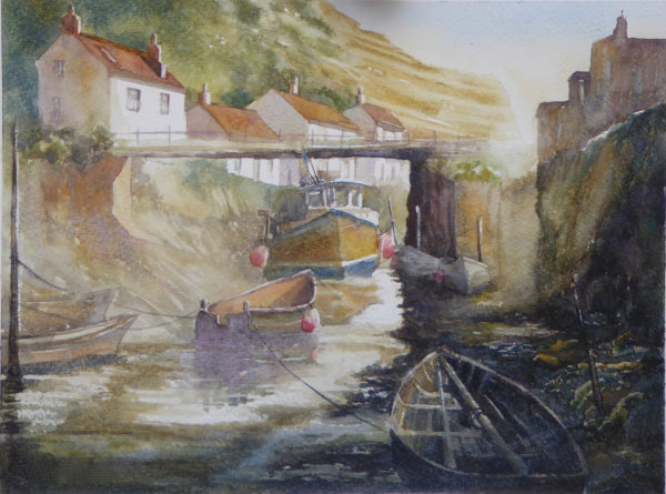 Autumn Morning, Staithes - Sold