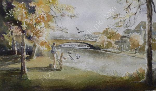 Caversham Bridge - Plein-air