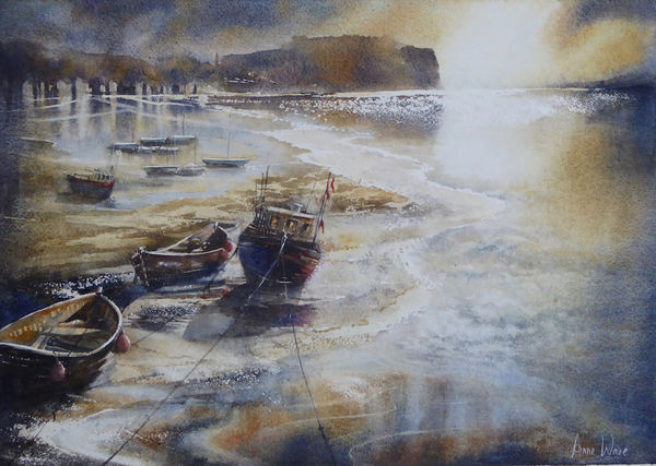 "Harbour Night, Staithes - Patchings (Nottingham) 2019 ""Artist"" Art Competition, June"