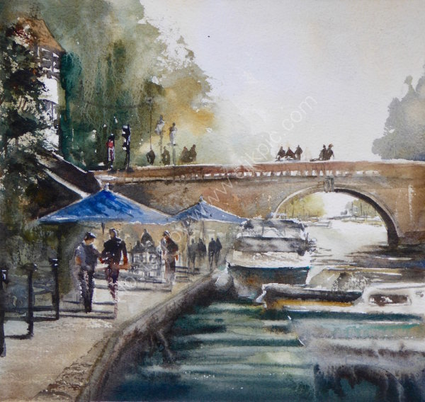 Plein-air watercolour, Henley