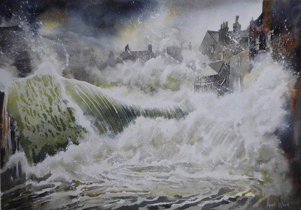 High Seas, Staithes Beach - SOLD