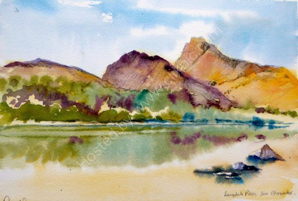 Langdale Pikes from Elterwater - SOLD