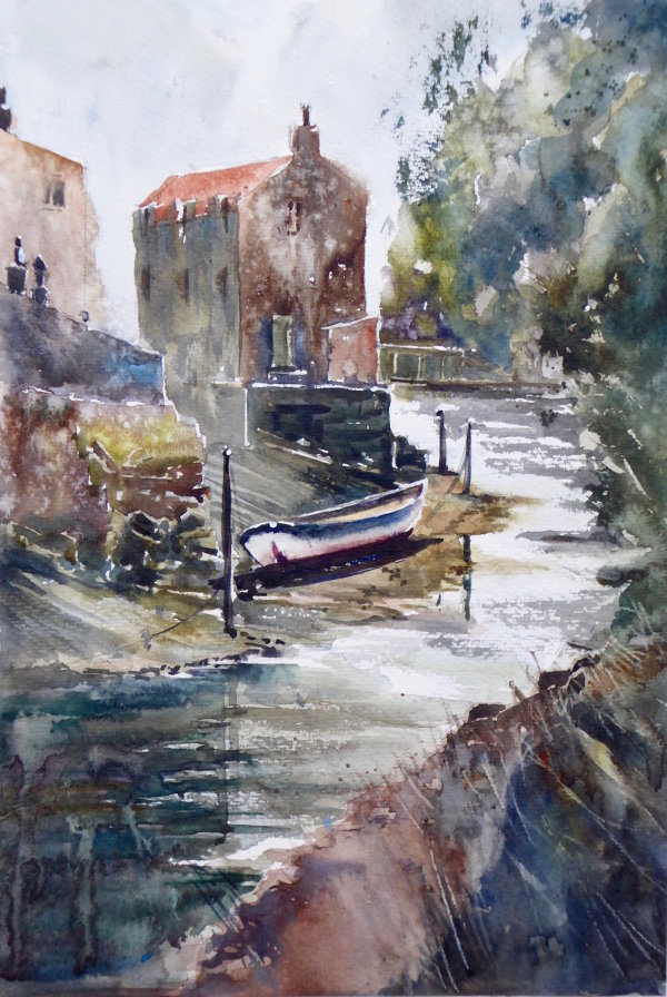 Looking up the Beck, Staithes