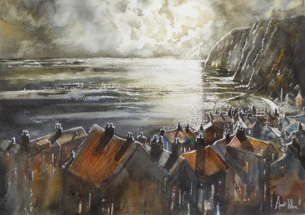 Moonlit Harbour - SOLD