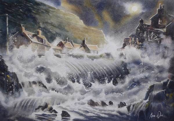 Night Storm Surge, Staithes