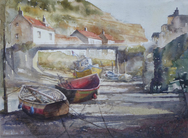 Spring Sun and Shade, Staithes - Sold