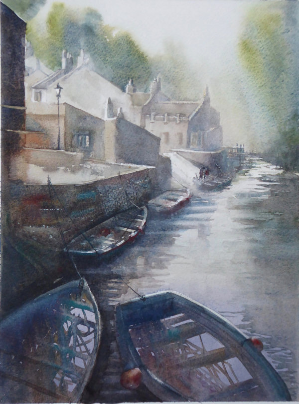 Grey Day, Staithes from the Bridge - Sold