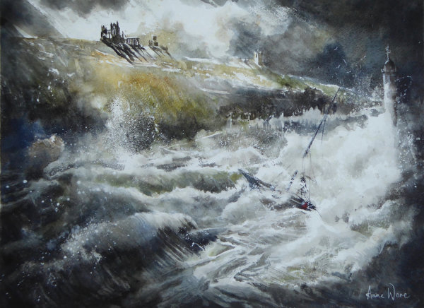 Whitby Storm (RI exhibition, Mall Galleries, 3-18 April 2019)