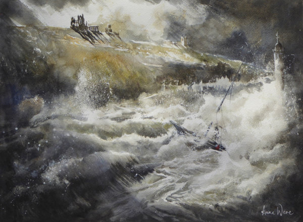 SOLD - Whitby Storm (RI exhibition, Mall Galleries, April 2019)