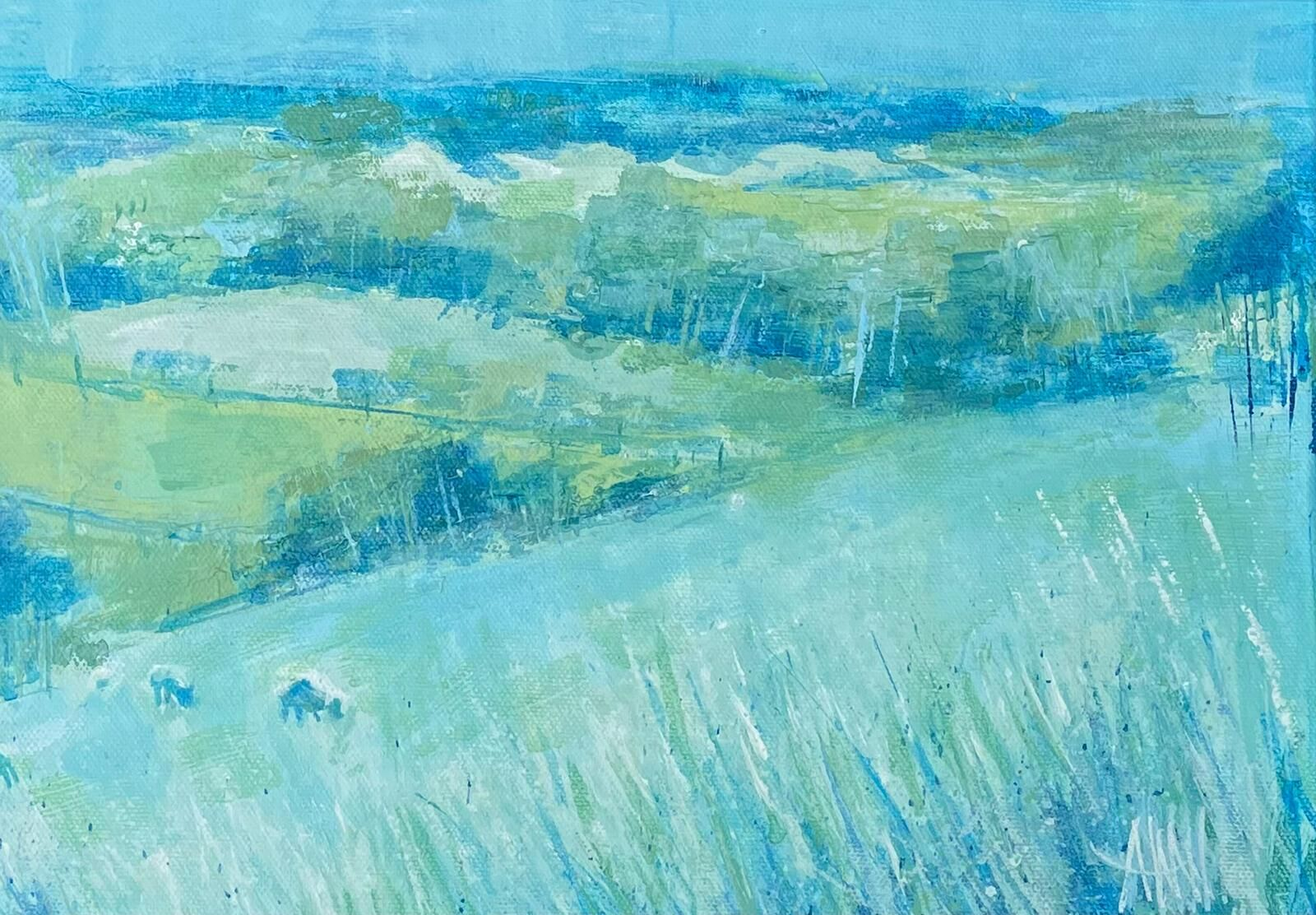 Sheep with Grasses