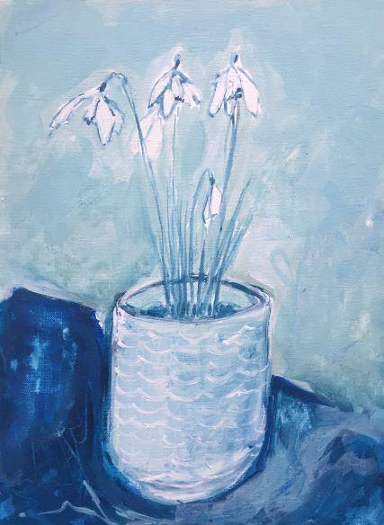 Snowdrops in a Pot