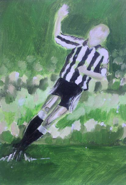 Alan Shearer Scores A Goal!