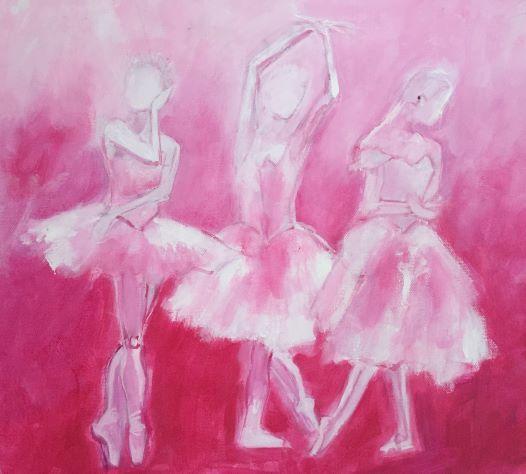 Three Pink Ballerinas.