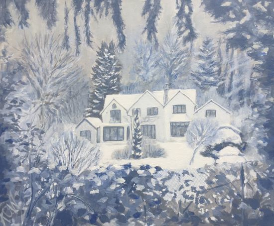 Plantation House in the Snow
