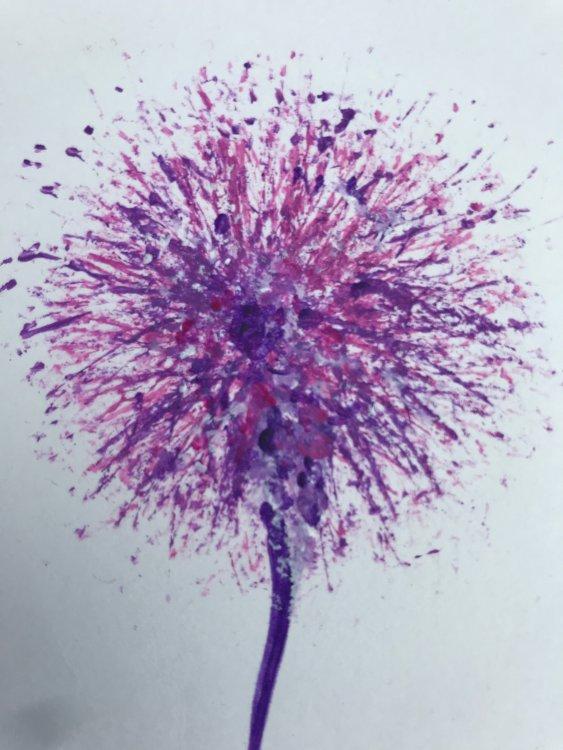 Acrylic Purple detail
