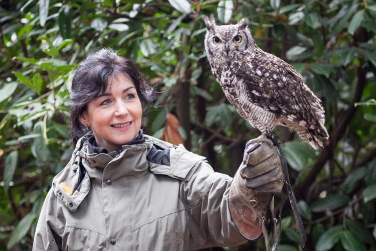 Annmarie with eagle owl