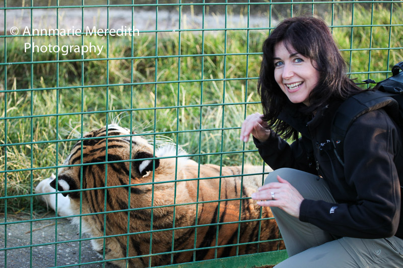 Annmarie with tiger