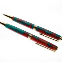 Pen & Pencil -Streamline -Red and Green Pearlesce