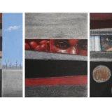 Bird Trap 4x9 ft triptych