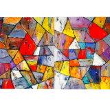 Tetrahedra 1 3x6 feet (diptych)