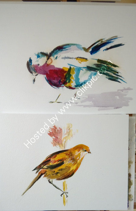 Laurie's acrylic inks