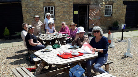 Lunch after at Bromham Mill