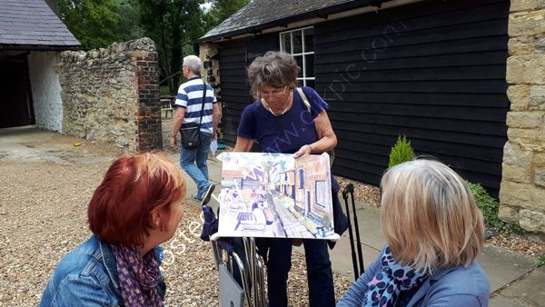 Bromham Mill, talking over artwork