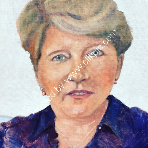 Claire Balding in oils