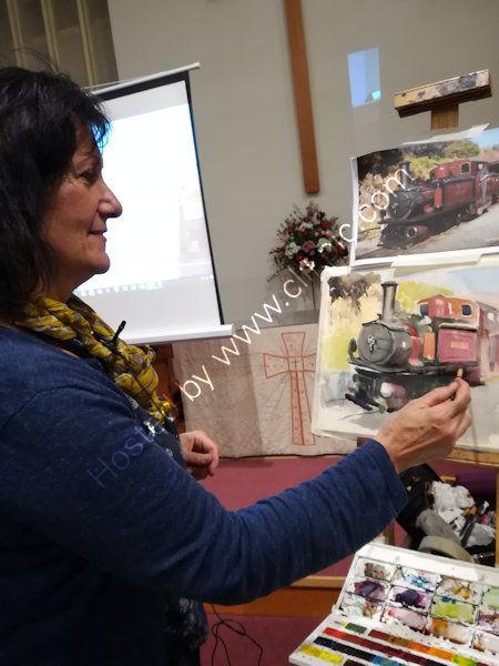 Pauline Hazelwood a watercolour demonstration