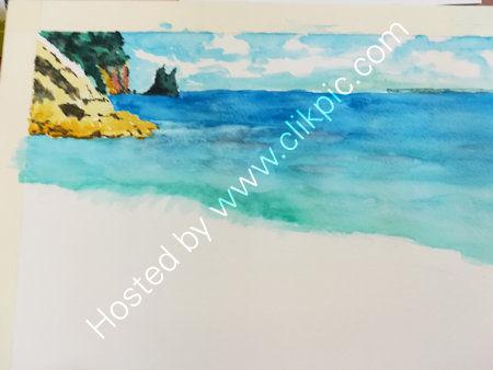 Weeks 2 & 3, water colour landscape