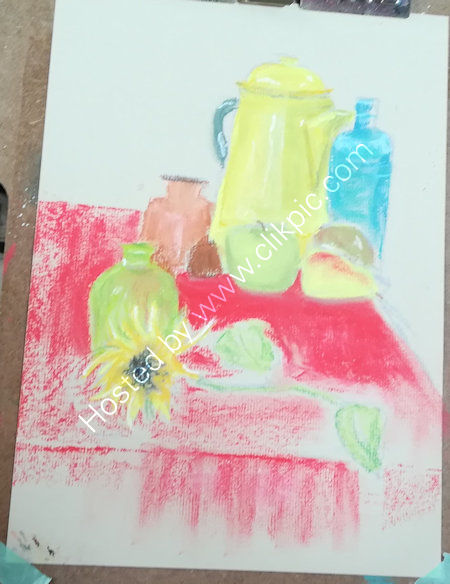Week 4, still life in pastels
