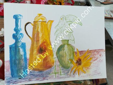 Week 4, still life in pastels