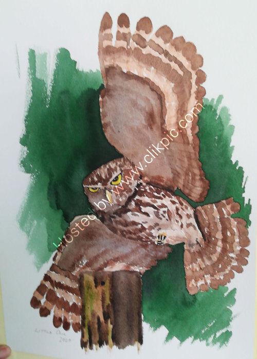 A3, watercolour