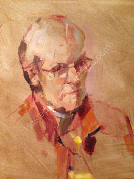 Keith Morton, Paints a portrait in acrylics