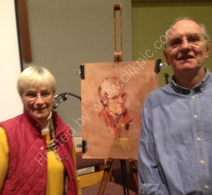 Keith Morton, Paints a portrait in acrylics